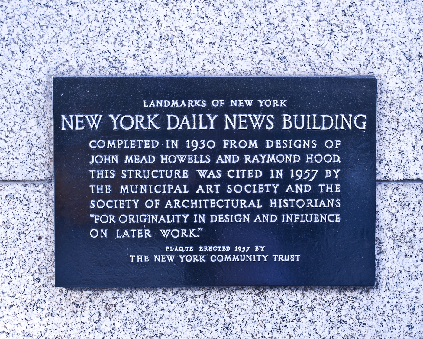 New York Daily News Building Marker