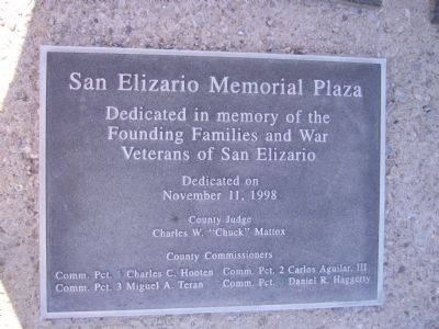 San Elizario Memorial Plaza Marker image. Click for full size.