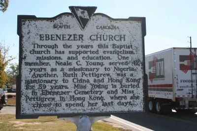 Ebenezer Church Marker -Side B image. Click for full size.