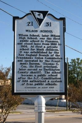 Wilson School Marker image. Click for full size.