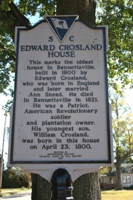 Edward Crosland House Marker image. Click for full size.