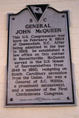 General John McQueen Marker image. Click for full size.