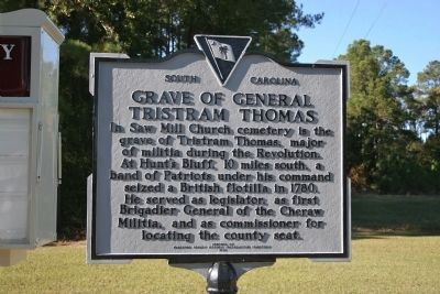 Grave Of General Tristram Thomas Marker image. Click for full size.