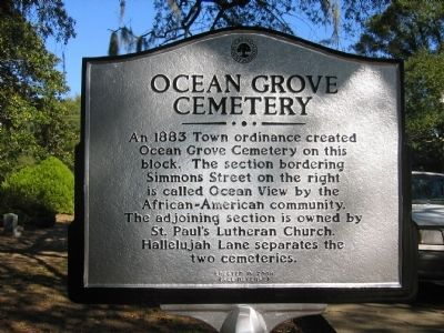 Ocean Grove Cemetery Marker image. Click for full size.