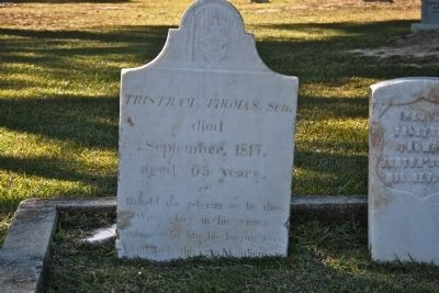 Headstone of General Tristram Thomas image. Click for full size.