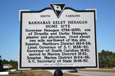 Barnabas Kelet Henagan Home Site Marker image. Click for full size.