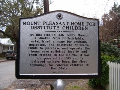 Mount Pleasant Home for Destitute Children - Side A image. Click for full size.