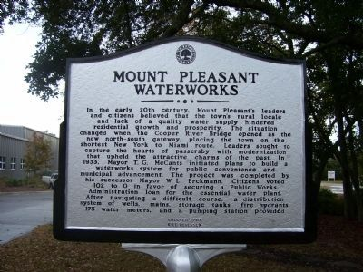 Mount Pleasant Waterworks Marker - Side A image. Click for full size.