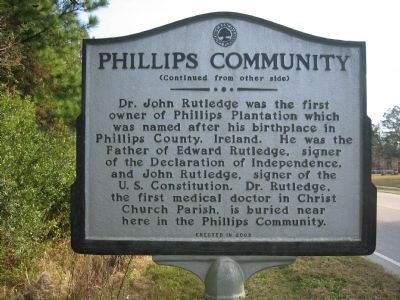 Phillips Community Marker - Side B image. Click for full size.