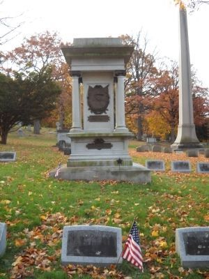 Markers in Oakwood Cemetery image. Click for full size.
