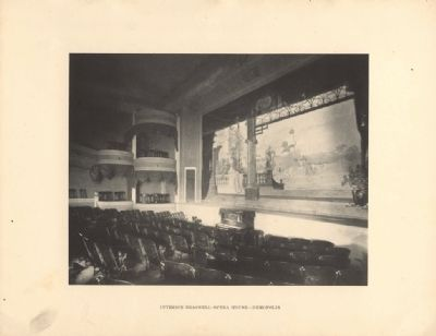 Interior Braswell Opera House 1907 image. Click for full size.