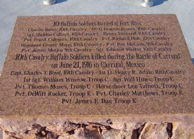 10 Buffalo Soldiers Buried at Fort Bliss - image. Click for full size.