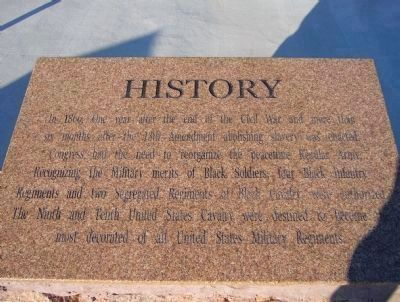 Fort Bliss Buffalo Soldiers Memorial - History image. Click for full size.