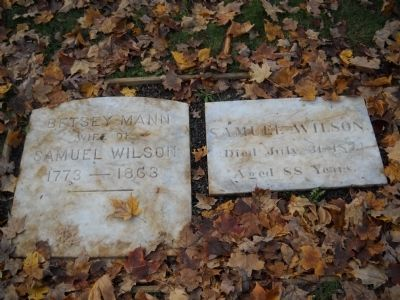 Grave of Samuel Wilson and wife Betsey Mann image. Click for full size.