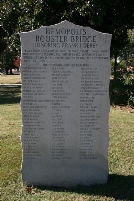 The Rooster Bridge Donor Marker image. Click for full size.