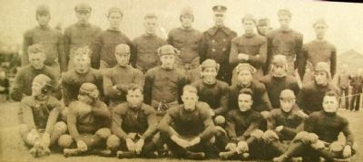 Football Team Photo on Marker image. Click for full size.