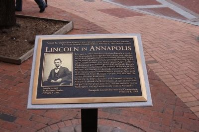 Lincoln in Annapolis Marker image. Click for full size.