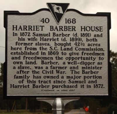 Harriet Barber House Marker image. Click for full size.