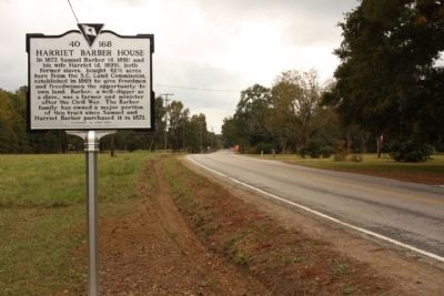 Harriet Barber House Marker, looking south image. Click for full size.