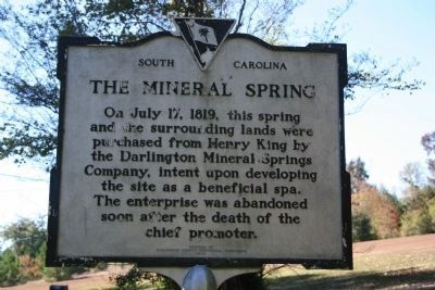 The Mineral Spring Marker image. Click for full size.