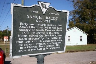 Samuel Bacot 1745-1795 Marker image. Click for full size.