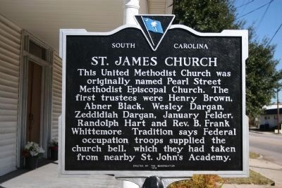 St. James Church Marker (Side A) image. Click for full size.