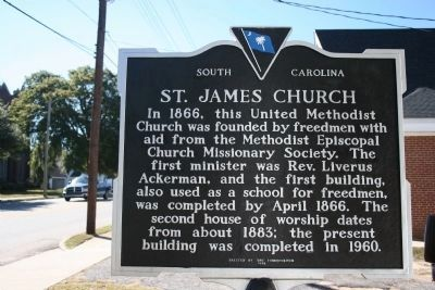 St. James Church Marker (Side B) image. Click for full size.