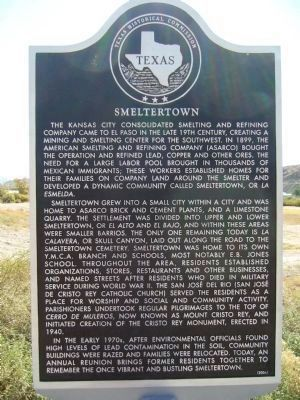 Smeltertown Marker - (English) image. Click for full size.