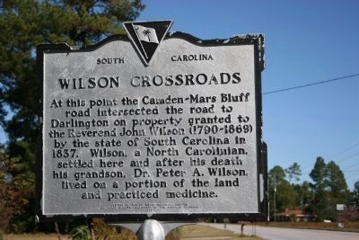 Wilson Crossroads Marker image. Click for full size.