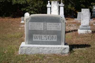 Dr. Peter A. Wilson Headstone image. Click for full size.