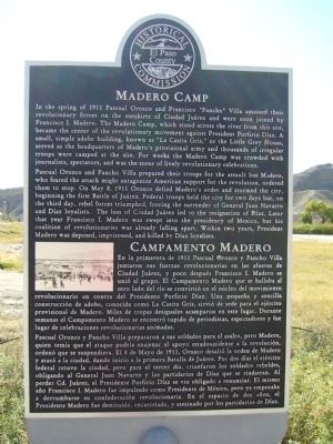 Madero Camp Marker image. Click for full size.