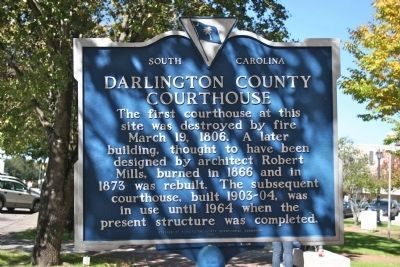 Darlington County Courthouse Marker image. Click for full size.