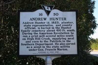 Andrew Hunter Marker (Side A) image. Click for full size.