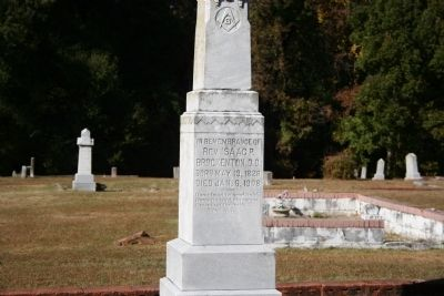 Rev. Isaac Brockenton Headstone at Darlington Memorial Cemetery image. Click for full size.