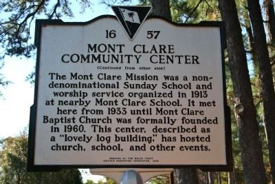 Mont Clare Community Center Marker (Side B) image. Click for full size.