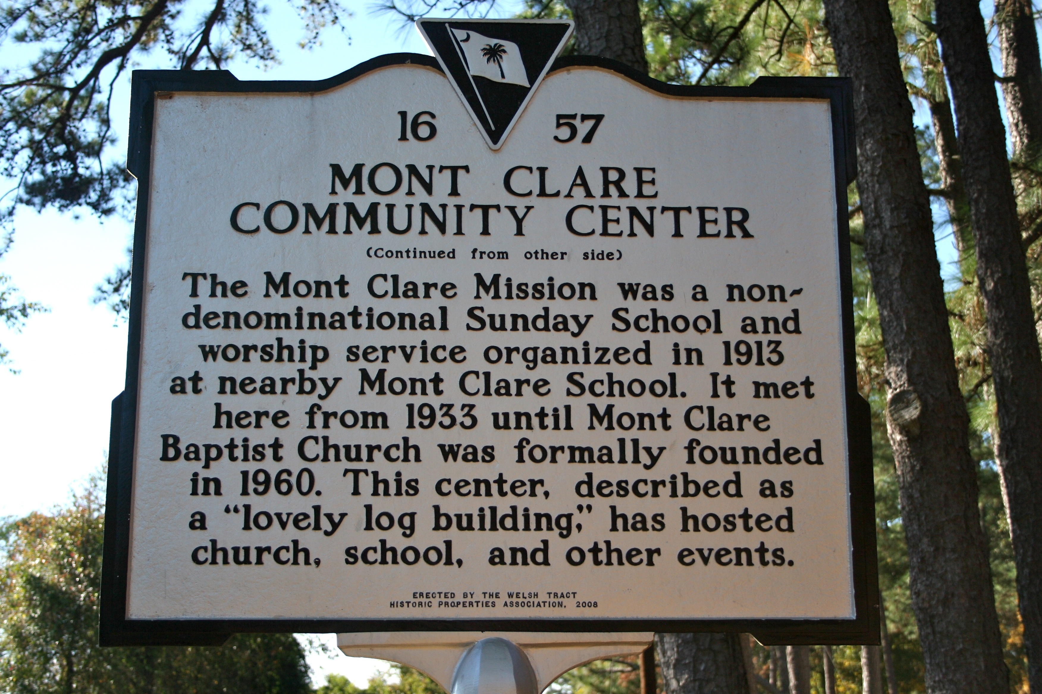 Mont Clare Community Center Marker (Side B)