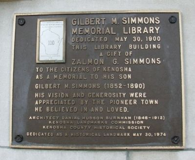 Gilbert M. Simmons Memorial Library Marker image. Click for full size.