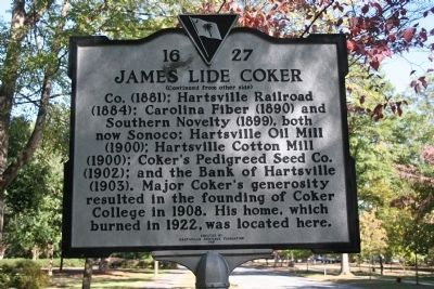 James Lide Coker Marker (Side B) image. Click for full size.