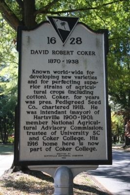 David Robert Coker 1870-1938 Marker image. Click for full size.