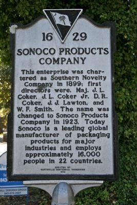 Sonoco Products Company Marker image. Click for full size.