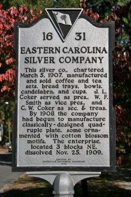 Eastern Carolina Silver Company Marker image. Click for full size.
