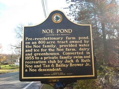 Noe Pond Marker image. Click for full size.