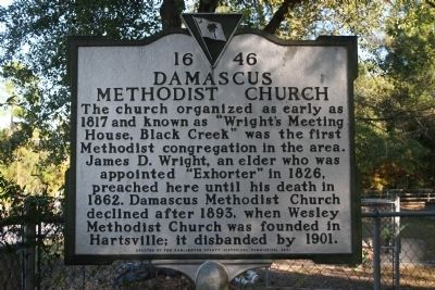 Damascus Methodist Church Marker image. Click for full size.