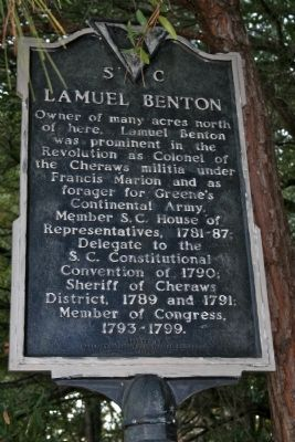 Lamuel Benton Marker image. Click for full size.