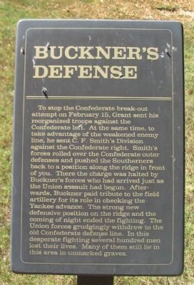 Buckner's Defense Marker image. Click for full size.