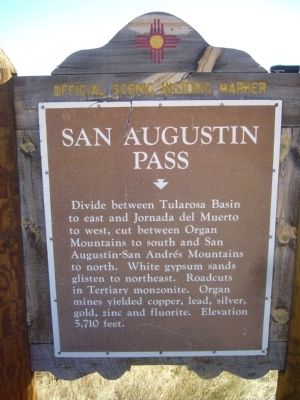 San Augustín Pass Marker image. Click for full size.