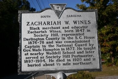 Zachariah W. Wines Marker image. Click for full size.