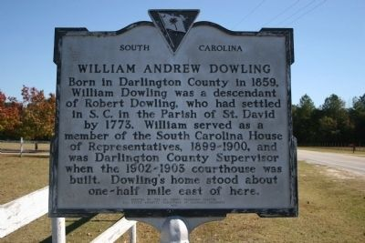 William Andrew Dowling Marker image. Click for full size.