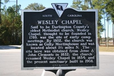 Wesley Chapel Marker image. Click for full size.