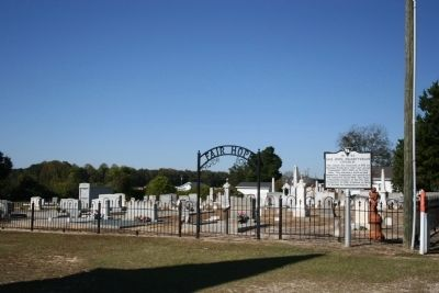Fair Hope Cemetery and Church Marker image. Click for full size.